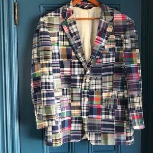 Jos A. Bank madras print blazer